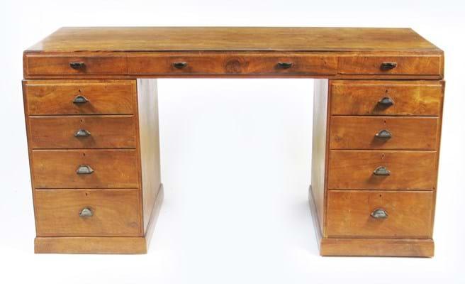 English walnut desk by Edward Barnsley