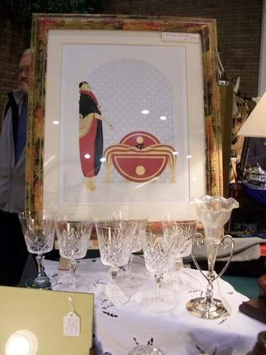 St Ives Antiques Fair stall