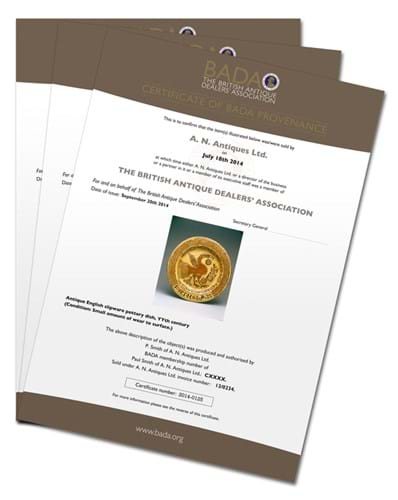 BADA Provenance certificate