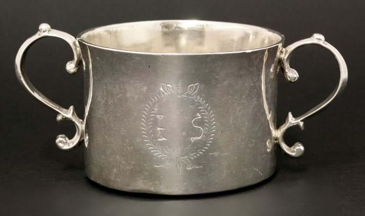 The IS silver porringer