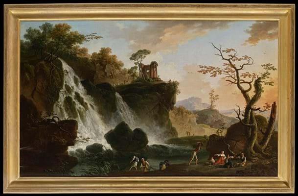 Waterfall at Tivoli by Charles-Francois Grenier de Lacroix